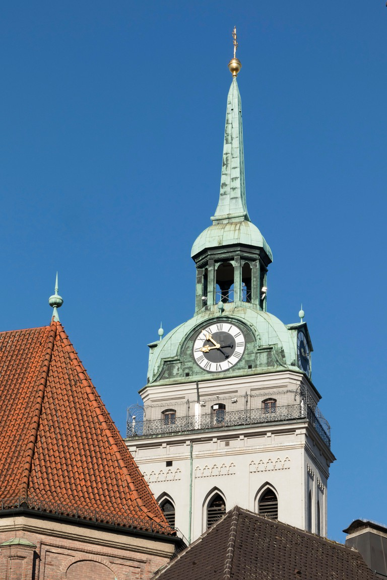 Steeple of St Peter's Church, Munich, Germany.