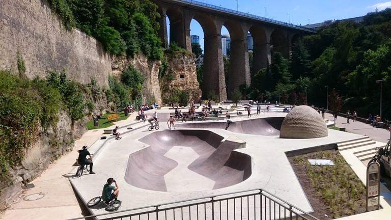 Skate park underneath Old Bridge