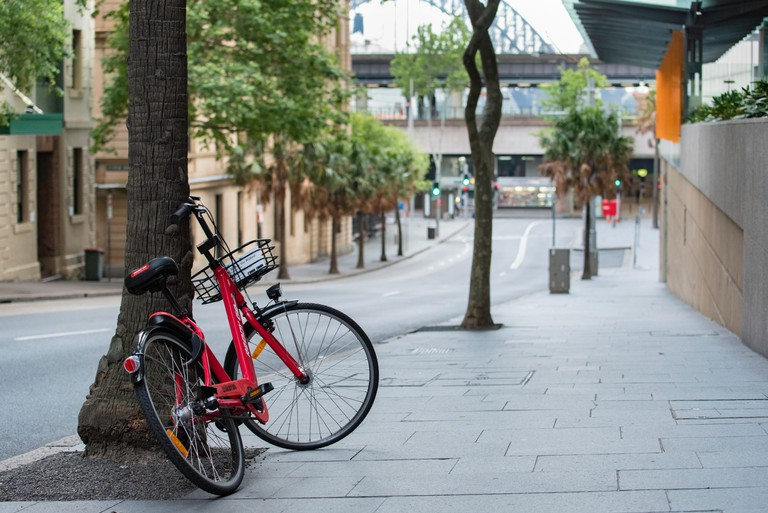 A hire bike in Sydney