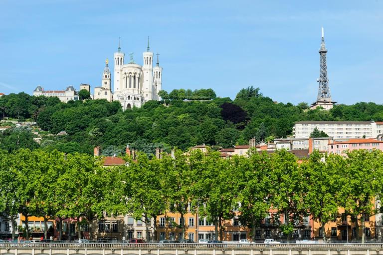 Basilica Notre-Dame de Fourviere, Lyon; Rhone, France, Unesco World Heritage Site