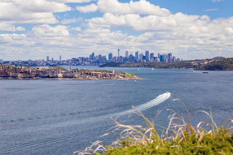 North Head view of Sydney skyline, NSW, Australia