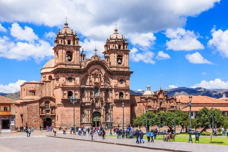 CUSCO, PERU - 25 APRIL 2017: Plaza de Armas. Cusco, Peru