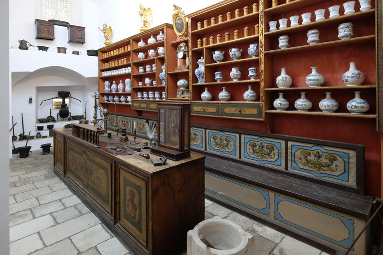 The third oldest pharmacy in the world in Franciscan monastery in Dubrovnik.