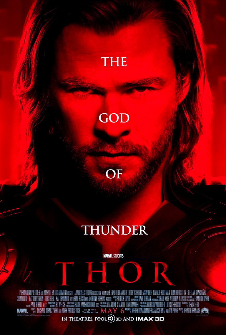 Thor (2011) directed by Kenneth Branagh and starring Chris Hemsworth, Natalie Portman, Tom Hiddleston and Anthony Hopkins. Thor is banished to Midgard where he falls in love and returns to Asgard to save it from Loki.
