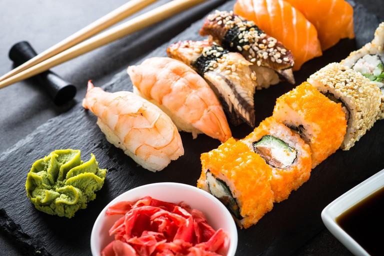 Sushi and sushi rolls