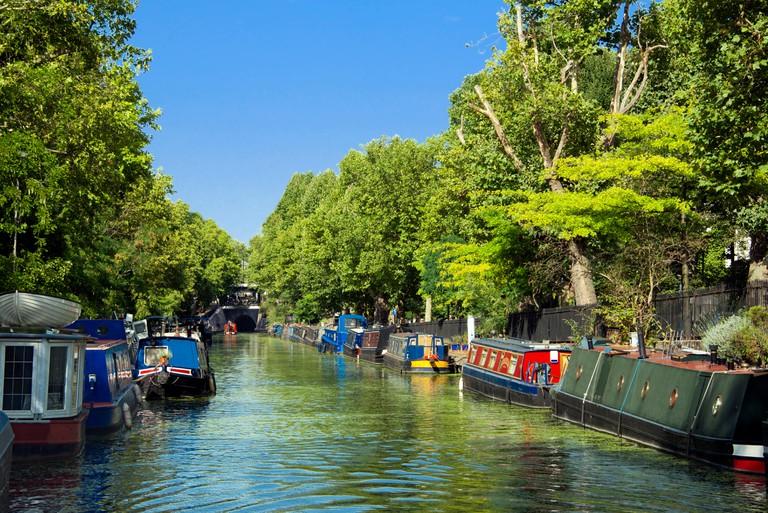 Regents canal Little Venice Maida Vale London England