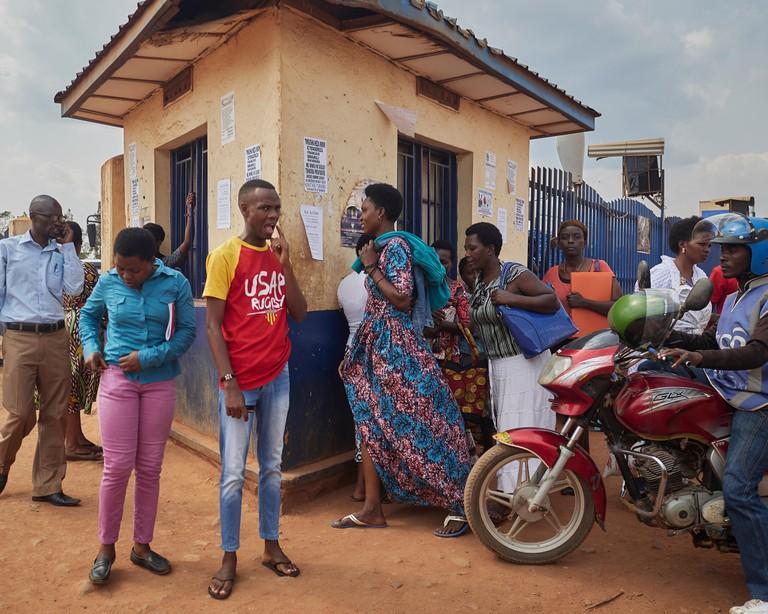 street corner at bus station, Kigali, Rwanda
