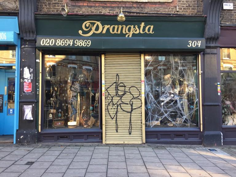 Prangsta shop, New cross