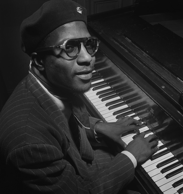 Portrait of Thelonious Monk, Minton's Playhouse, New York, New York, USA, William P. Gottlieb Collection, September 1947