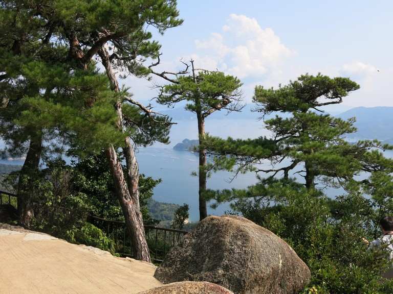 Stunning views from the top of Mount Misen, Miyajima Island, Japan