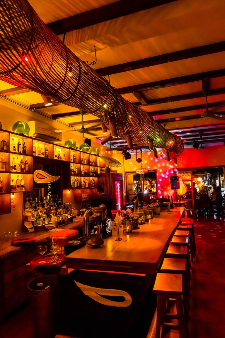 Interior of a Bar in Hoi An, Vietnam.
