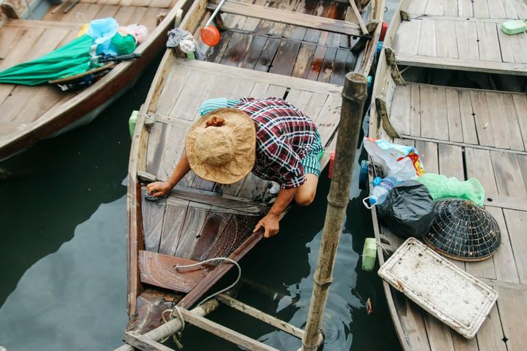 Sampan boats