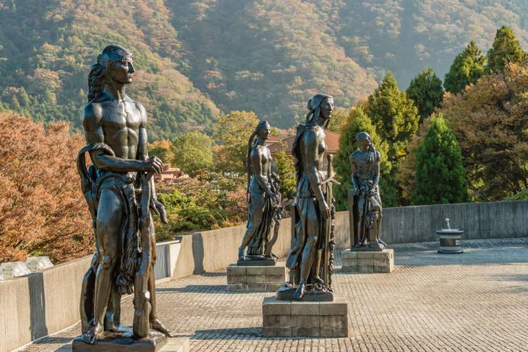 Grande statue Sculpture Group by Emile Antoine Bourdelle at Hakone Open Air Museum, Japan | Grande statue Skulpturengruppe von Emile Antoine Bourdelle