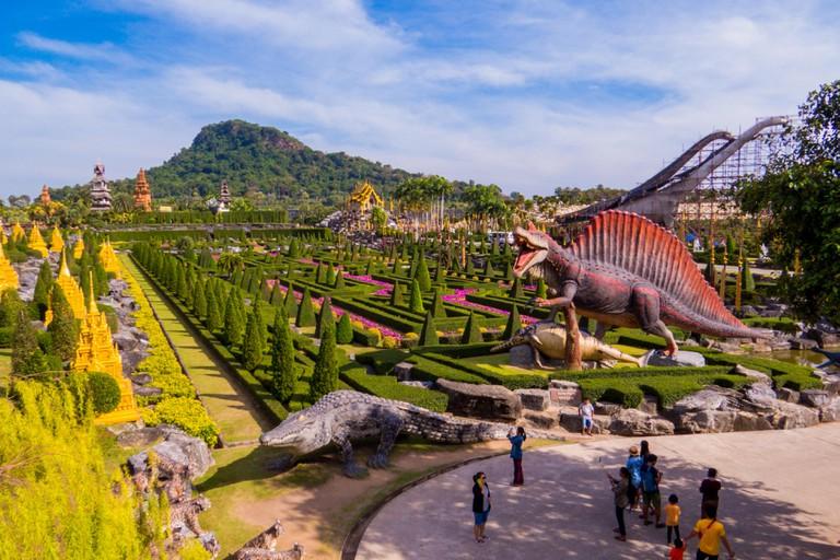 View of Dinosaur Valley in Nong Nooch Tropical Botanical Garden, Pattaya, Thailand