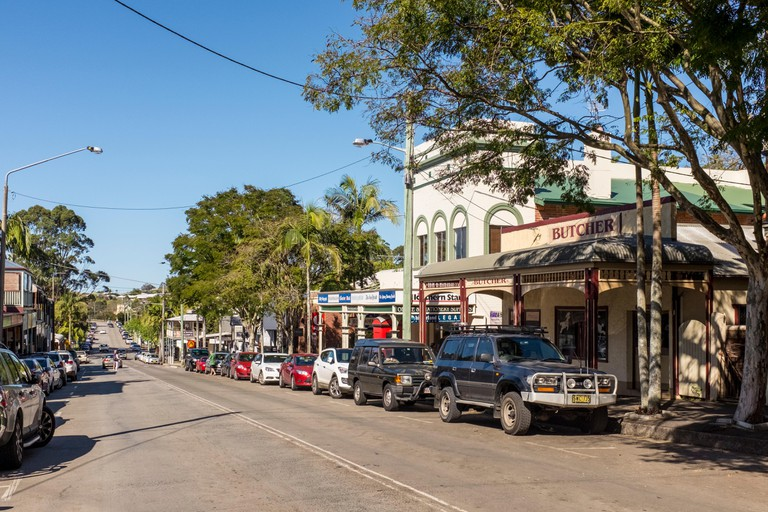 The main street in Bangalow in the Byron Bay