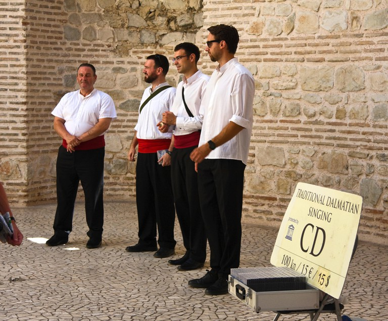 Klapa group singing in Diocletian's Palace