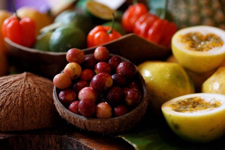 A view of Amazon fruits including Camu Camu