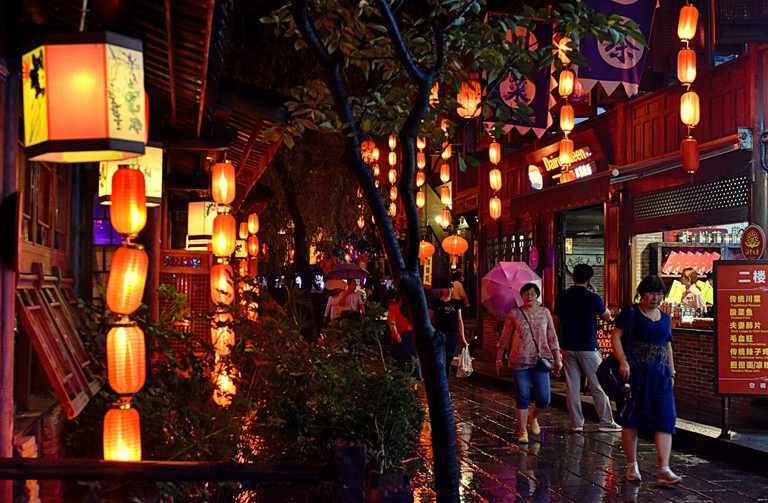 Jinli Street has cafes and bars, Chengdu