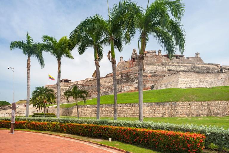 The Castle of San Felipe de Barajas in Cartagena, Colombia.