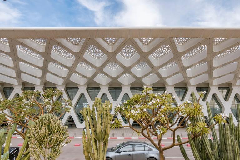 Marrakesh Menara Airport, building of airport in Morocco