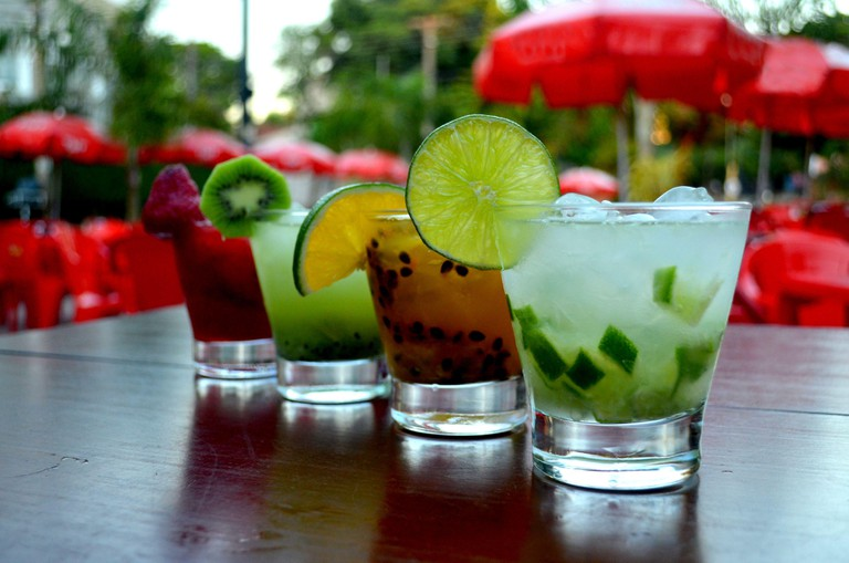 Caipirinha Drink isolated or easy to cut. Tradicional alcoholic beverage in Brazil. Simply Delicious.