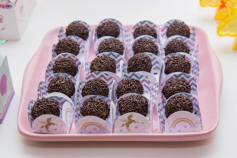 chocolate candy with sprinkles popularly known as brigadeiro very popular in Brazil