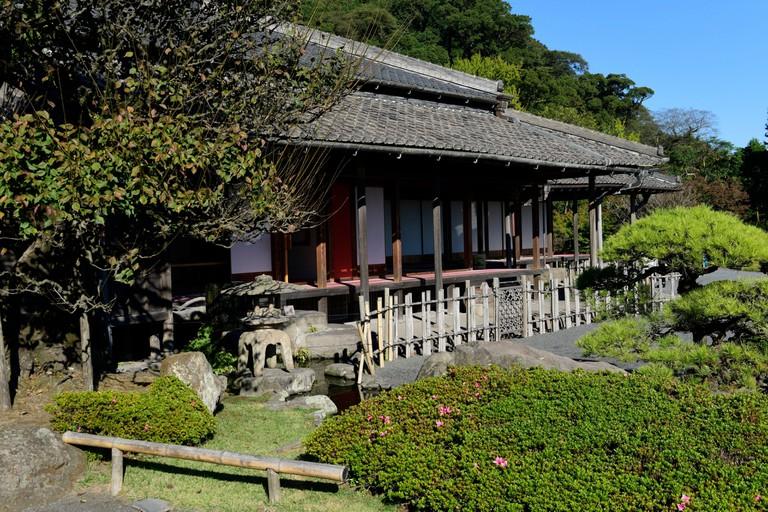 garden villa of the Shimazu family, Sengan-en garden, Kagoshima.