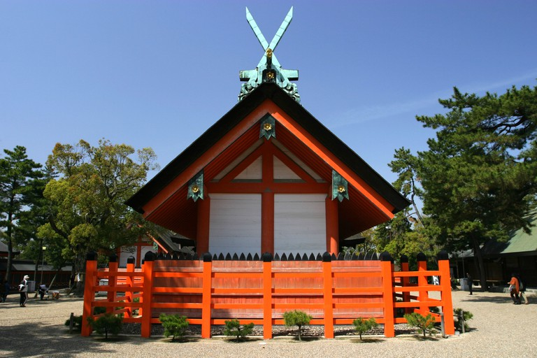 Sumiyoshi Taisha shrine, Osaka.