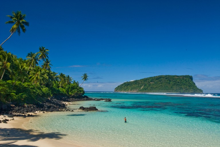 Lalomanu Beach blue lagoon  SAMOA southeastern Upolu FAOFAO beach
