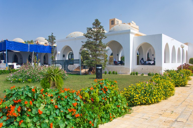 The Panorama Resort on the shores of Karoun Lake near El Fayoum Egypt. Image shot 2008. Exact date unknown.