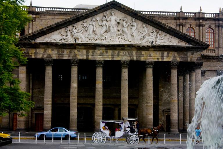 Mexico, Guadalajara, Degollado Theatre Plaza de la Liberacion