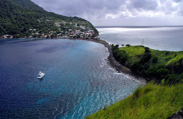 A view of Soufriere Bay in Scotts Head on the Island of Dominica