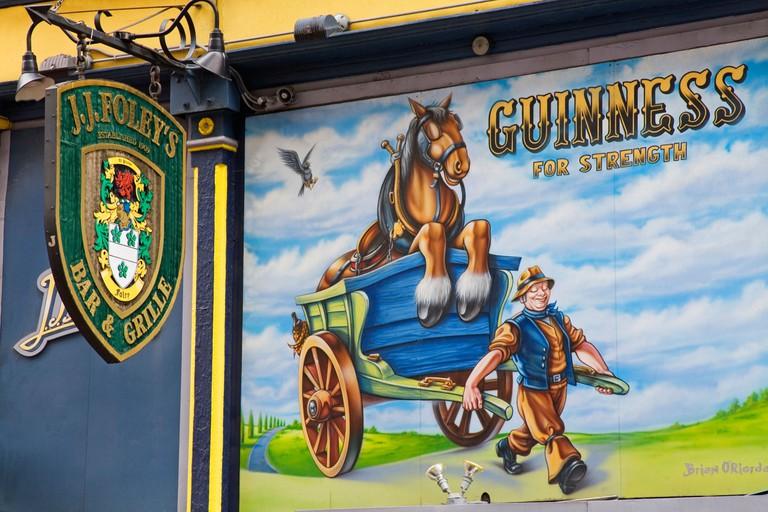 Mural by Brian O Riorda on Foley s Pub Kingston Street Boston Massachusetts USA