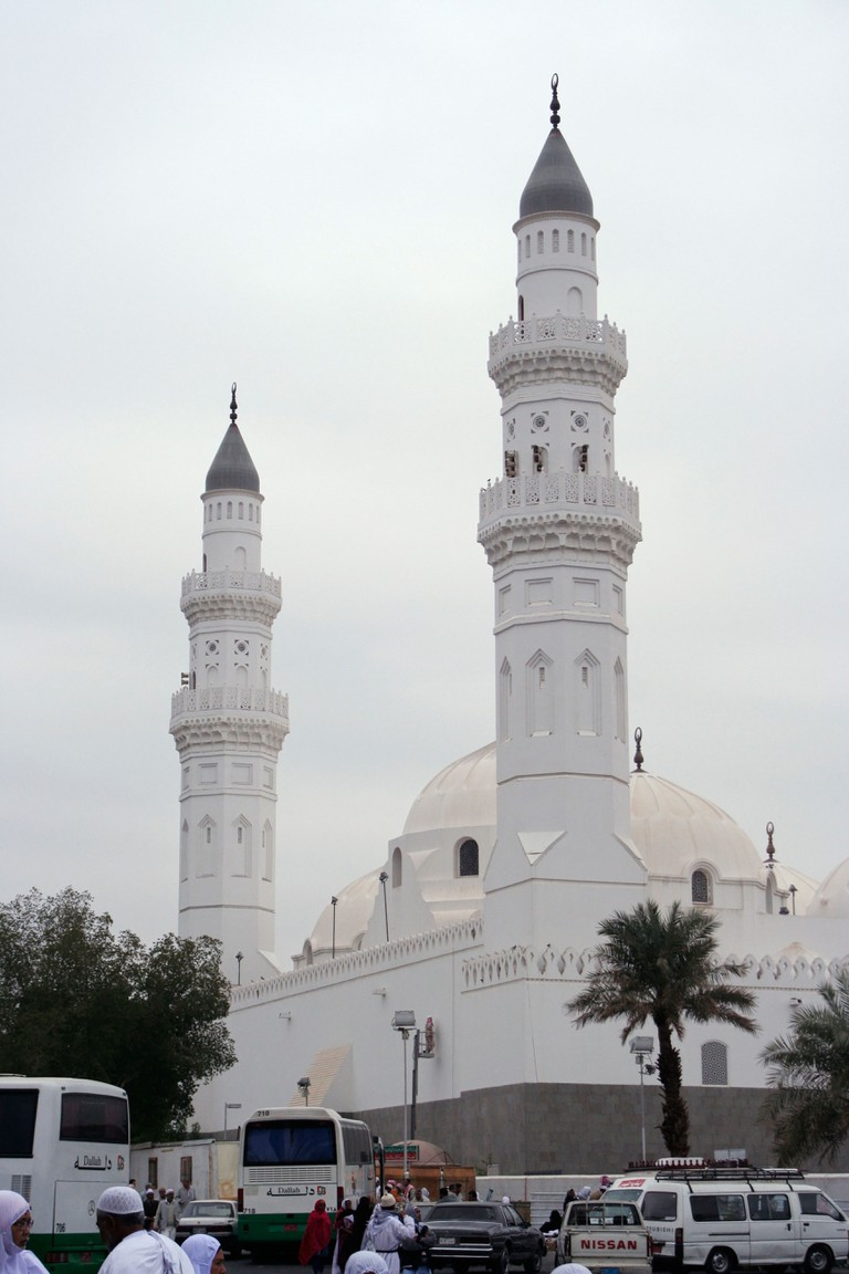 Masjid Quba - Islam's first mosque near Medina in Saudi Arabia.