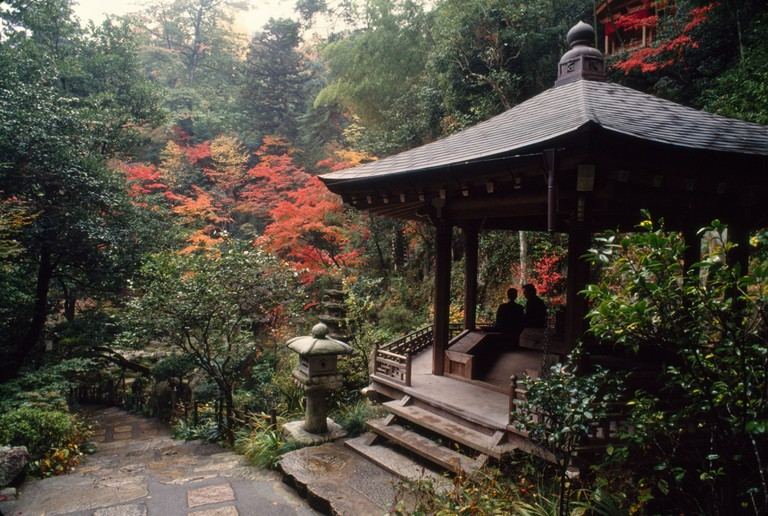 Observation shelter sits near Mitaki-dera (temple)