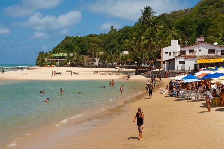 The beach at Praia da Pipa Brazil