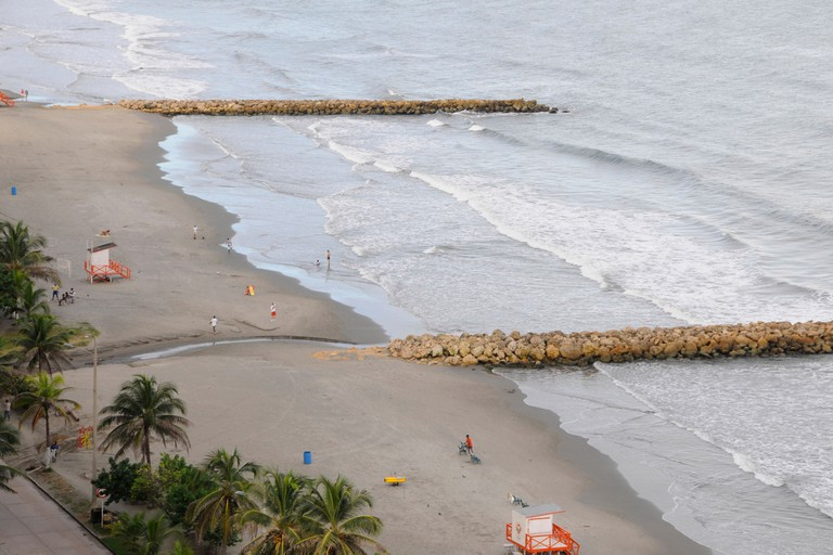 Bocagrande beach, near Cartagena, Colombia.. Image shot 2010. Exact date unknown.