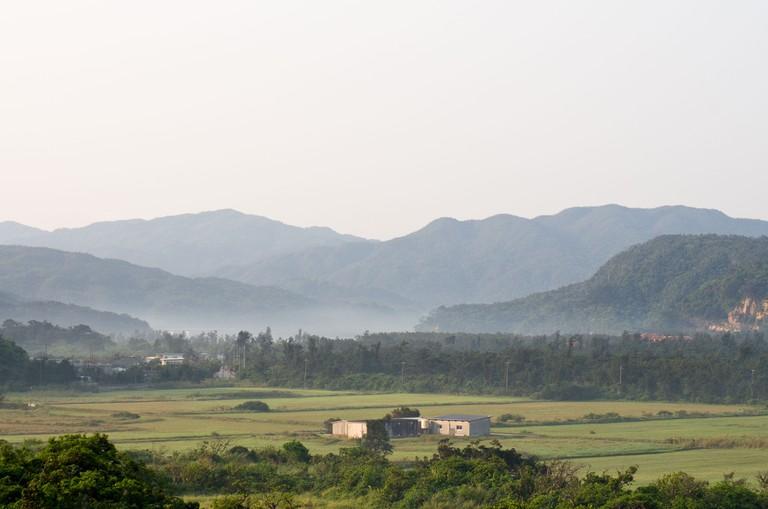 Views of mountains surrounding Okinawa, Japan