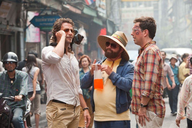 The Hangover part II, Warner Bros film From left: Bradley Cooper, Zach Galifianakis, and Ed Helms