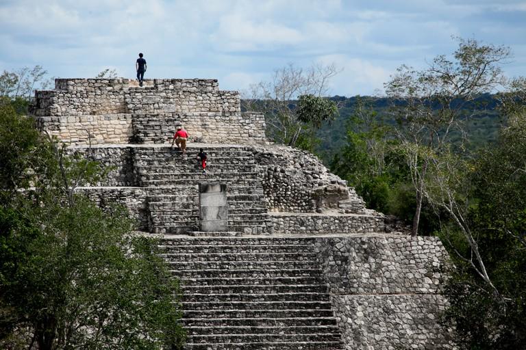 Pyramid I, Calakmul, UNESCO World Heritage Site, Calakmul Biosphere Reserve, Campeche, Mexico