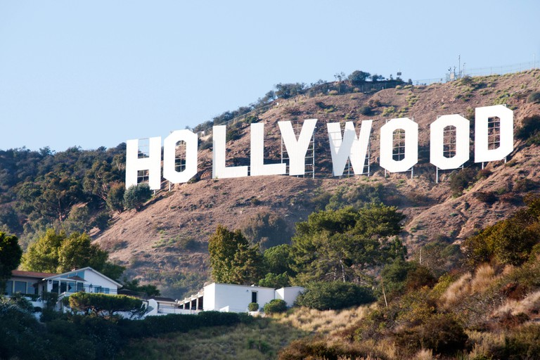 The Hollywood sign Hollywood Hills from Griffith Observatory Los Angeles California United States
