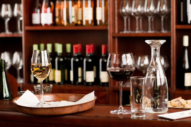 Wine bar tasting