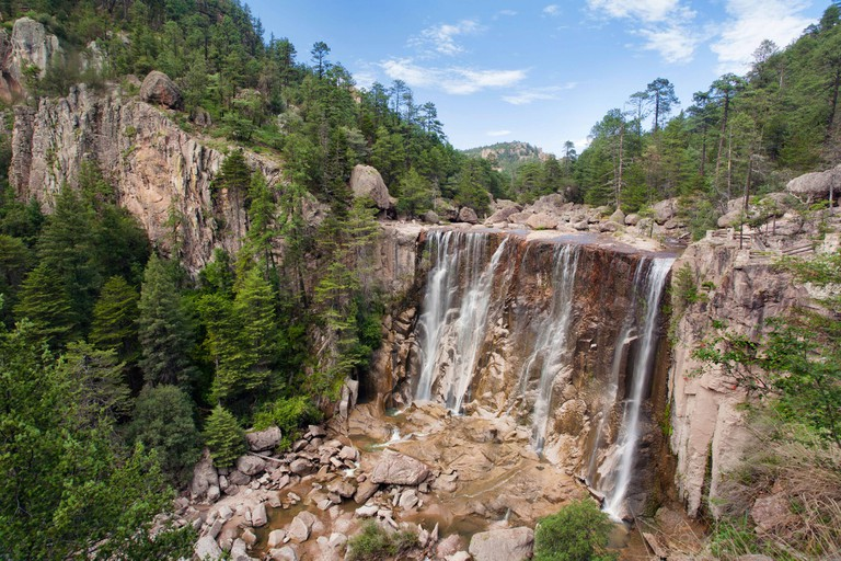 Cusarare Falls in Chihuahua, Mexico.