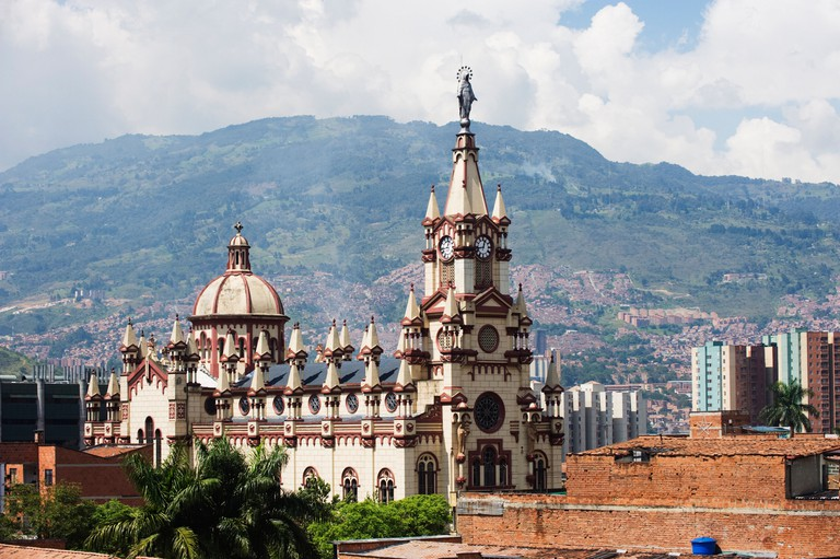 Church in Medellin, Colombia, South America