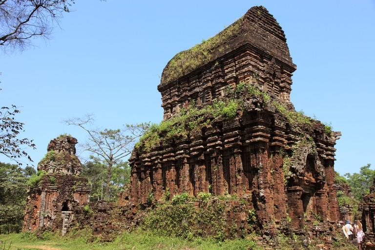 Temple ruins at My Son Sanctuary Vietnam