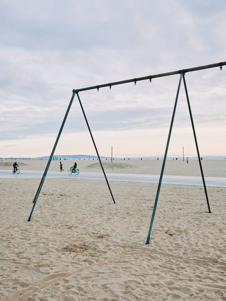 The swings and rings have been removed in this park due to Covid-19