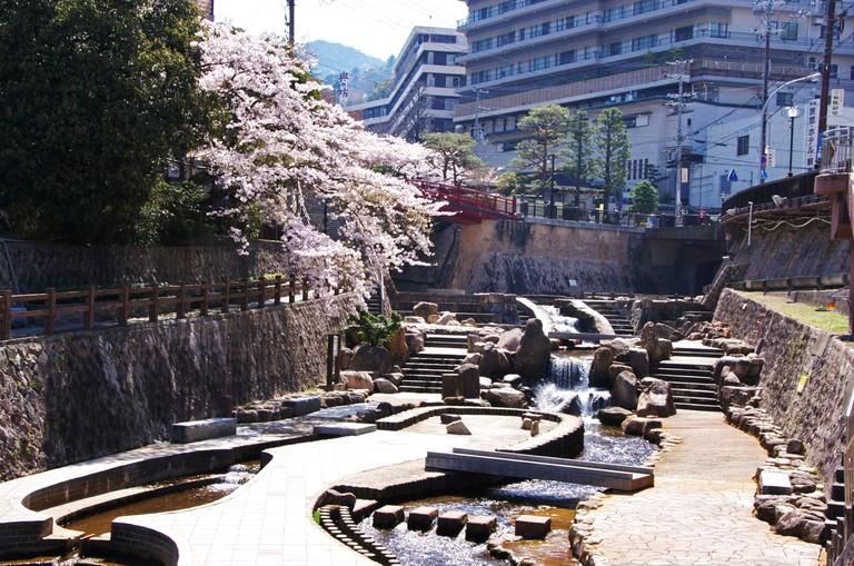Arima river and Arima Onsen