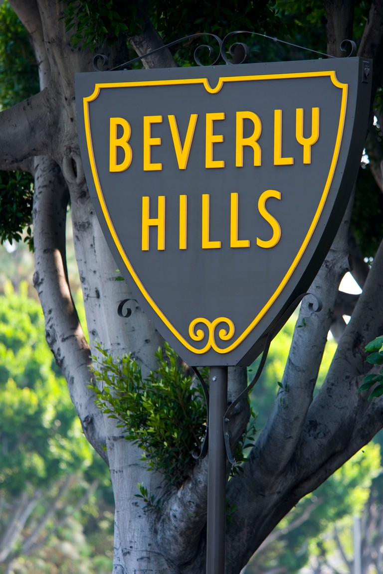 Iconic sign in Beverly Hills California, this sign is not copyrighted