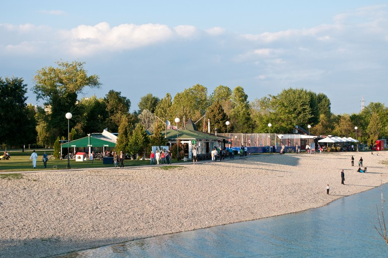 Beach Little Lake, Lake Jarun, Zagreb, Croatia