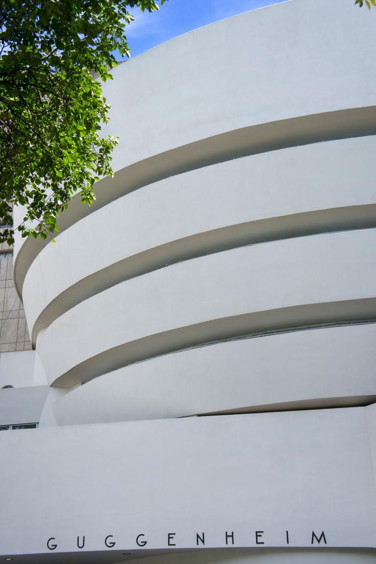 Exterior view of Guggenheim Museum, New York.